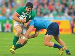 Ireland reach quarters; Pumas outmuscle Tonga