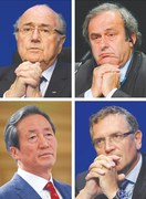 World football rocked by suspensions of Blatter, Platini