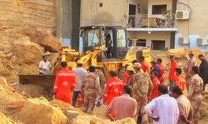 At least 13 killed as rockslide hits shacks in Karachi