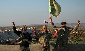 US airdrops ammunition to Syria rebels