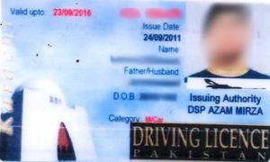 Karachi driving licence campaign postponed till February 2016