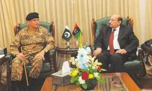 Corps commander, CM discuss NAP meeting agenda, polls security