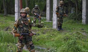 Indian commandos kill three militants in IHK army base gunbattle