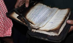 کراچی: عیسائی ویب ٹی وی کا دفتر پراسرار طور پر نذر آتش