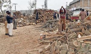 Firewood price goes up in Hazara with start of winter