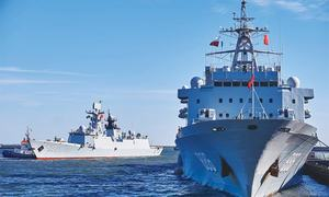 China navy holds first joint anti-piracy drill with Nato