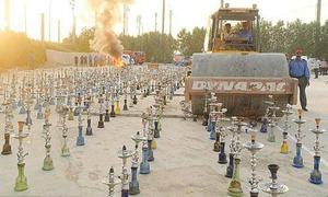 Shisha, tobacco seized in DHA destroyed