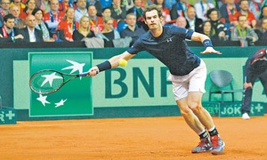 Murray levels Davis Cup final as Goffin survives scare