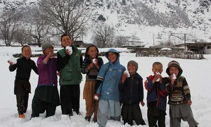 Snowfall beckons tourists to beautiful Swat