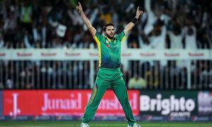 Pakistan lose but Afridi rises in T20 rankings