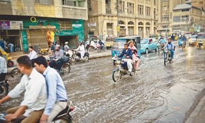No end to Karachi downtown sewage flooding even after three days