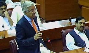 Pakistan not joining any anti-Iran coalition, Asif tells NA