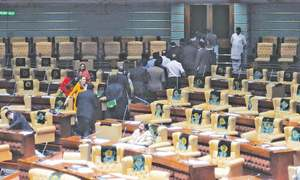 Barred from tabling pro-Altaf resolution, MQM lawmakers stage walkout
