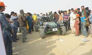 Rally racing in Nooriabad sparks interest of locals