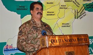 Externally supported elements responsible for Balochistan unrest: COAS