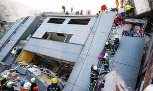 Five dead after Taiwan quake topples buildings