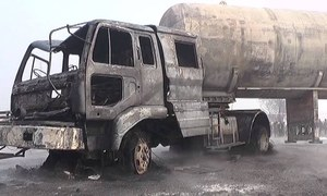 Six children among nine dead in tanker collision near Nankana Sahib