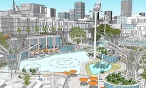 دبئی کے اندر ایک بڑے گنبد دار شہر کا منصوبہ