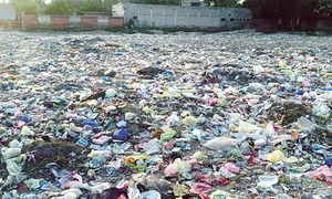 Rs90m project reels under garbage heaps