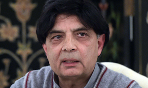 Anti-Musharraf protesters are staging political drama, says Nisar