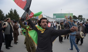 In pictures: Afghan cricket team receives hero's welcome on homecoming
