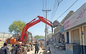 Major anti-encroachment drive begins in Peshawar