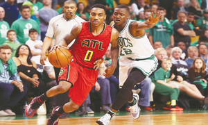 Hawks overwhelm Celtics, move to second round