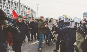 Hundreds arrested in Germany clashes