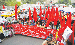 Workers demand their constitutional rights