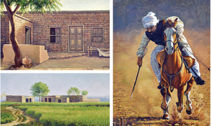 Paintings inspired by Pakistani landscapes exhibited