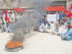 Several districts shut after JSQM call for Sindh-wide strike