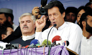 Imran flays Nawaz for 'using students for political motives'