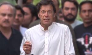 Protesting peacefully is a part of democracy, not terrorism: Imran strikes back at PM