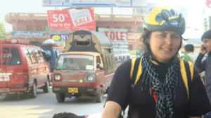 'People on the road treat women cyclists like aliens,' says athlete Gule Afshan Tariq