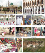 The bustling shrine of Bari Imam