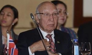 Afghan Taliban not yet ready for talks: Sartaj Aziz