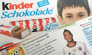 German far right angry at soccer team's photos on candy bars