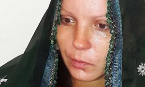 Ukrainian woman reunited with husband