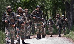 کشمیر میں جھڑپیں، 6 حریت پسند، ایک فوجی اہلکار ہلاک