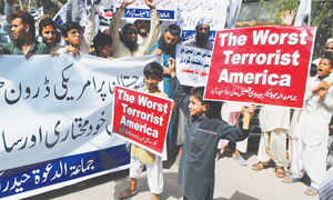 Religious parties hold rallies against drone strike