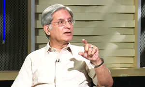 Khawaja Asif's frustration over GHQ meeting reason for NA outburst, Aitzaz claims