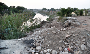 Construction waste dumping could cause Nullah Leh to flood