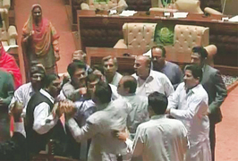 Clash over corruption allegations in Sindh Assembly averted