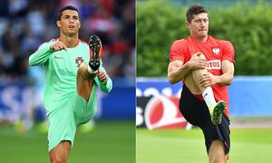 Ronaldo-Lewandowski face off for Euros semis slot