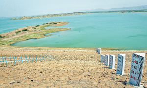 Hub dam below dead level despite rains
