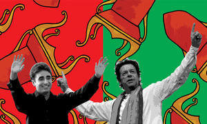 Can Imran, Bilawal stand together on the same container?