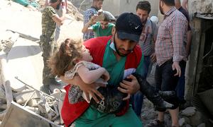 شام: فضائی حملوں میں 25 شہری ہلاک