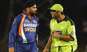 Shoaib Akhtar says Harbhajan's claim 'exaggerated'