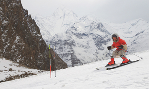 Snow, speed and skiing on top of the world