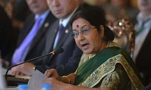 Kashmir can never become part of Pakistan, Sushma tells Nawaz